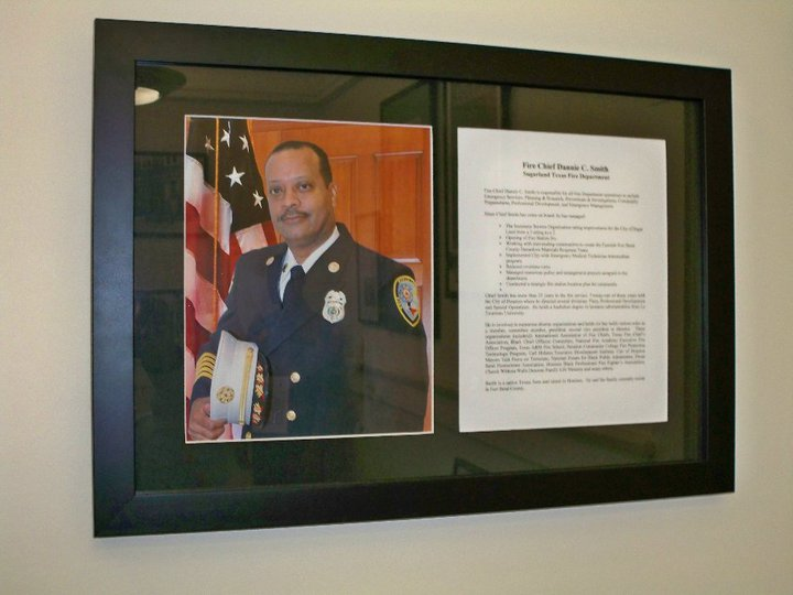Fire Chief Dannie Smith of the Sugarland Texas Fire Dept is featured.